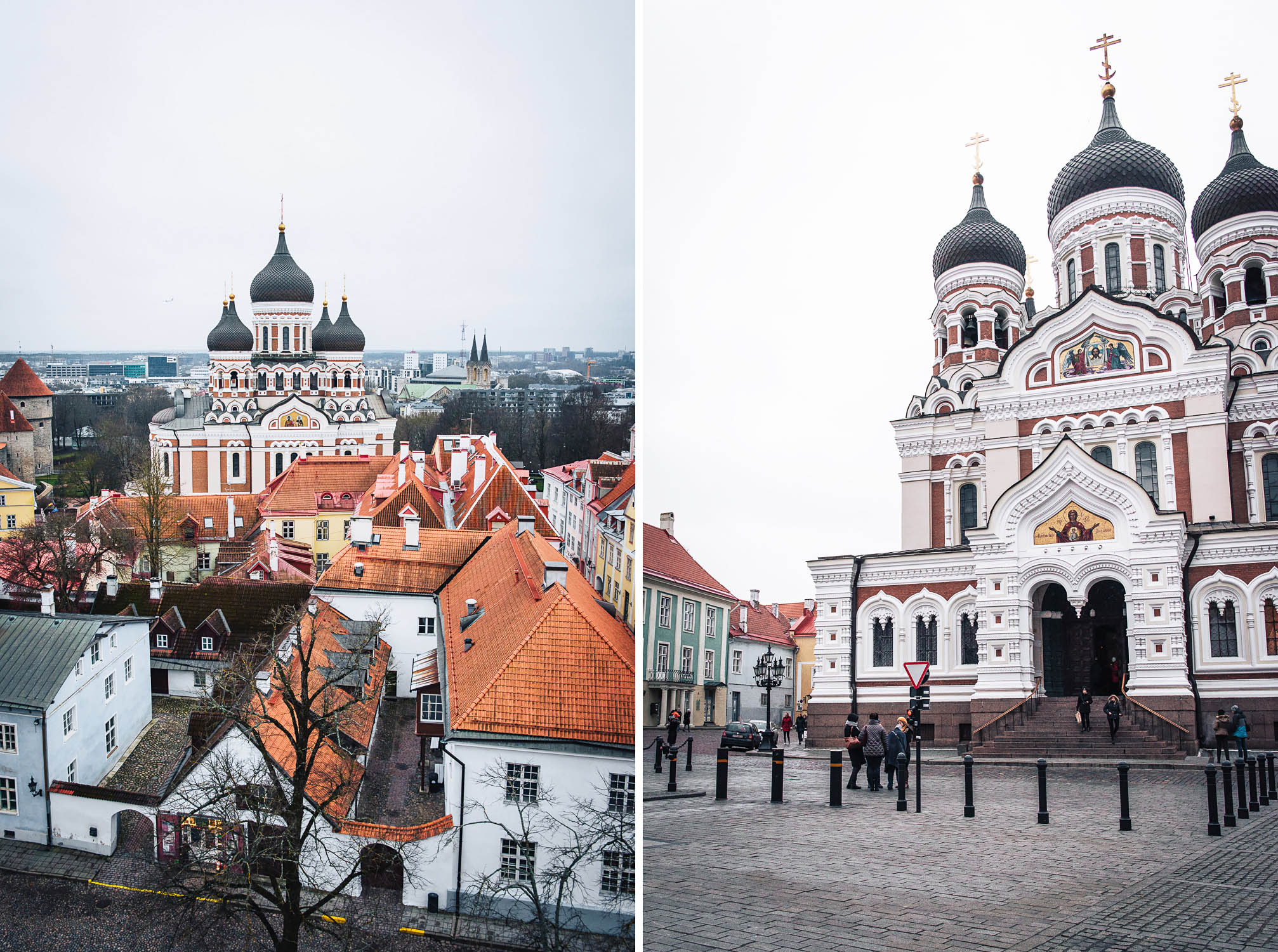 Alexander Nevsky Cathedral is an orthodox cathedral in Tallinn's Old Town | A day trip to Tallinn from Helsinki