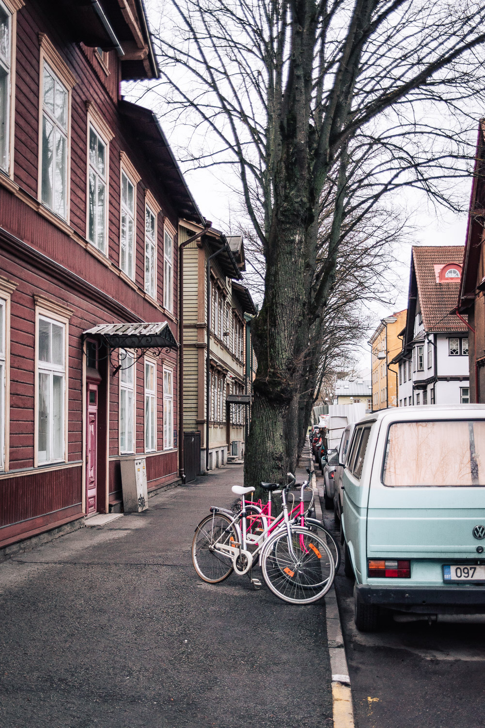 Kalamaja, formerly the town's main fishing harbour, is a charming residential area known for its colourful houses and doors | A day trip to Tallinn from Helsinki