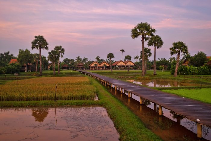 Sunrise at Zannier Hotels Phum Baitang resort in Siem Reap, Cambodia | Mondomulia