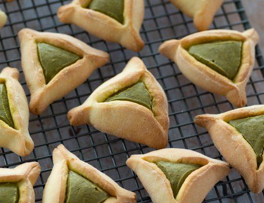 Jewish Hamantaschen Cookies with Pistachio Butter   Mondomulia