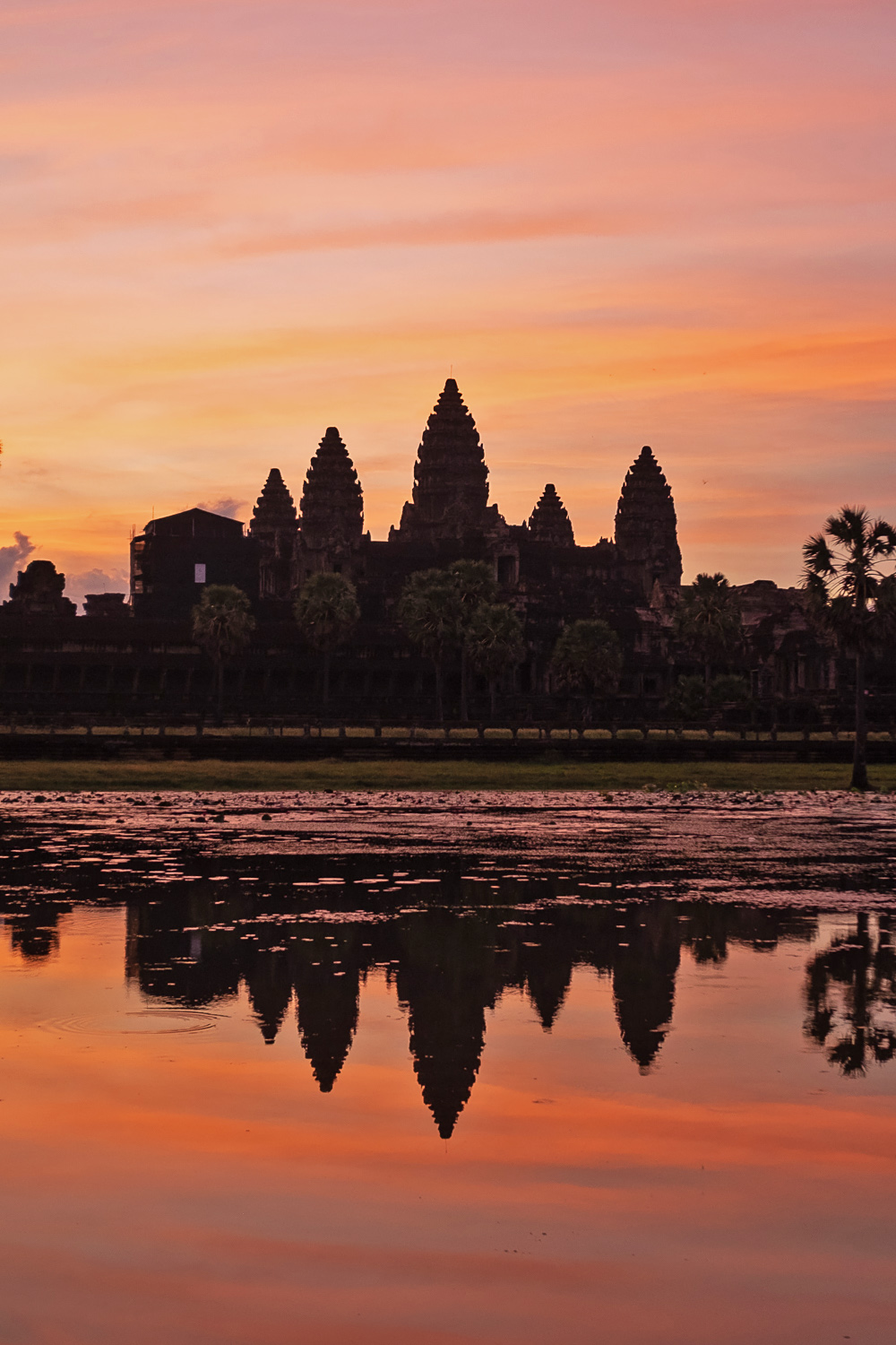 Sunrise at Angkor Wat, a Unesco World Heritage Site and the ultimate expression of the Khmer Empire | Siem Reap, Cambodia | Mondomulia