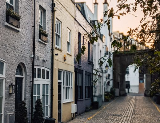 Kynance mews near Gloucester road in Kensington, London
