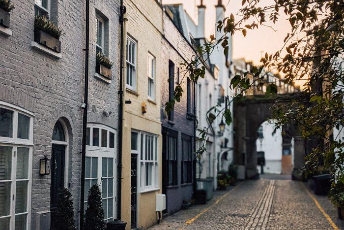 Kynance mews near Gloucester road in Kensington, London
