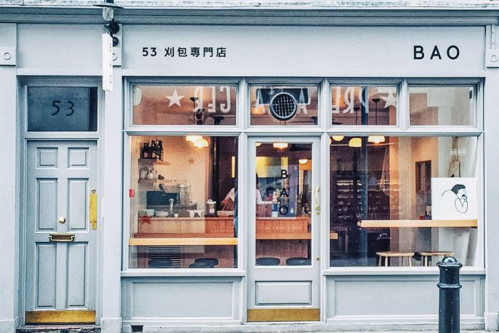 BAO restaurant in London's Soho, home to BAO's famous Taiwanese steamed buns