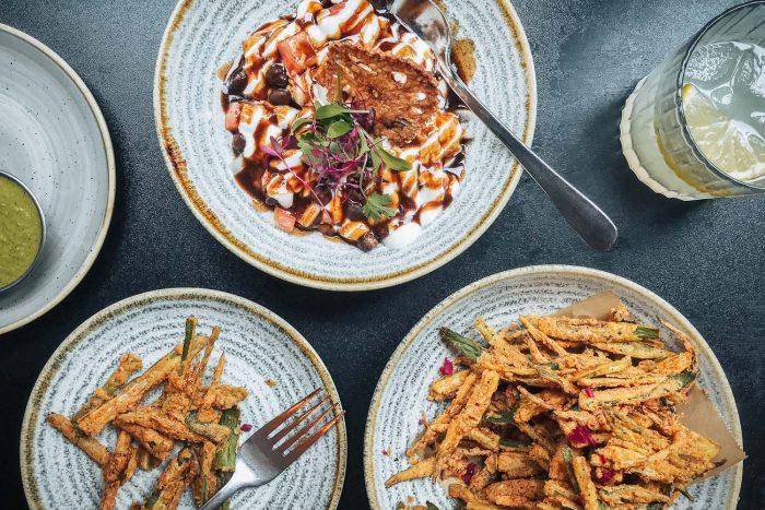 Indian food at Gunpowder restaurant in Spitalfields, London