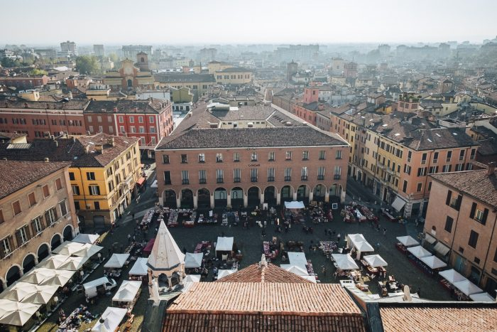 View of Modena old town and Piazza Grande from the top of Torre Ghirlandina   Six Beautiful Towns you Must Visit in Emilia Romagna   Mondomulia