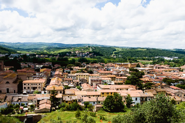 The view from the top of the funicular in Certaldo Alto, Tuscany
