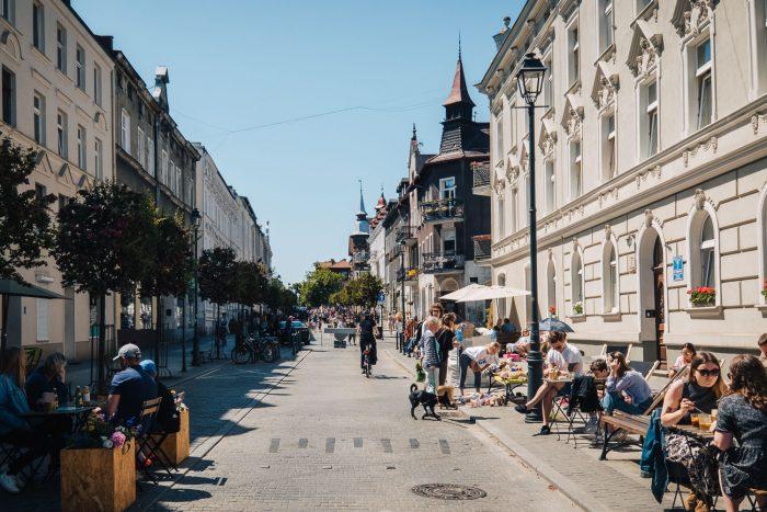 Wajdeloty Street in Wrzeszcz neighbourhood, Gdansk