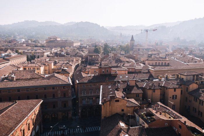 Bologna from Terrazza panoramica di San Petronio | Six Beautiful Places you Must Visit in Emilia Romagna | Mondomulia