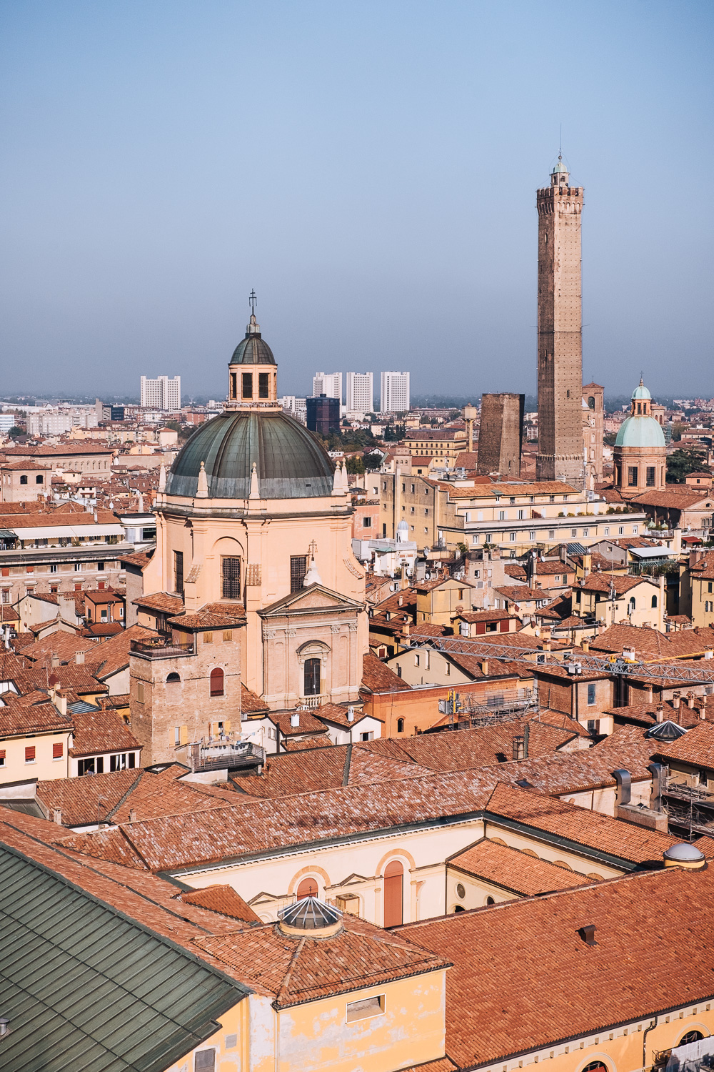 Aerial view of Bologna and the Due Torri | Six Beautiful Places you Must Visit in Emilia Romagna | Mondomulia