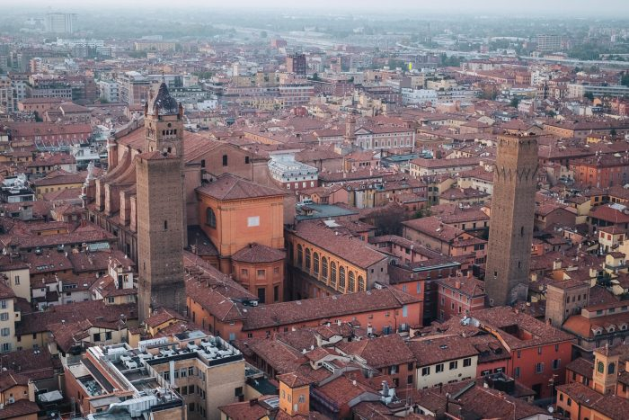 View of Bologna from the Torre degli Asinelli | Six Beautiful Places you Must Visit in Emilia Romagna | Mondomulia