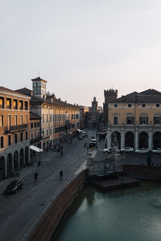 The view of Ferrara's old town from Castello Estense   Six Beautiful Towns you Must Visit in Emilia Romagna   Mondomulia