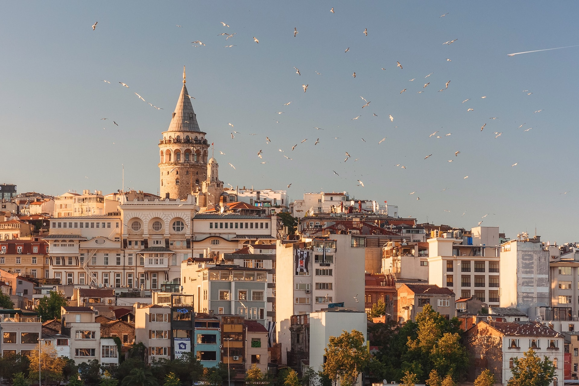 A view of Istanbul and Galata Tower, Turkey