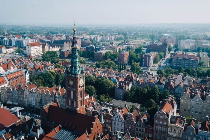 The view from the The 78-metre high tower of St. Mary's Basilica in Gdansk | Things to do in Gdansk, Poland: 48 Hours in the City #mondomulia