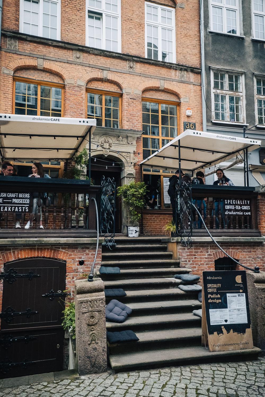 Drukarnia speciality coffee shop on Amber Street in Gdansk