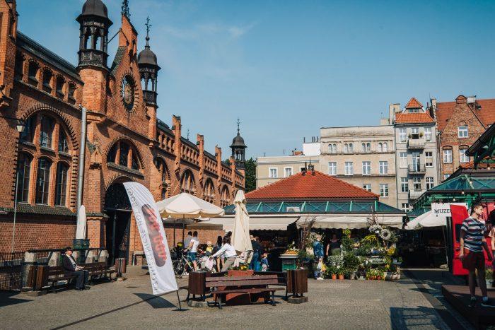 Hala Targowa market hall in Gdansk, Poland