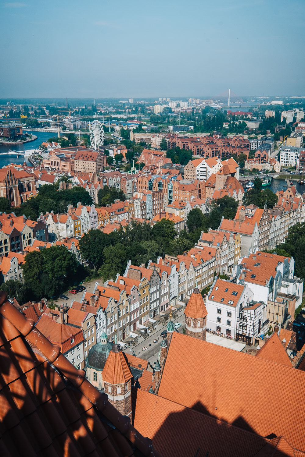 The view from the 78-metre-high tower of St. Mary's Basilica in Gdansk | Things to do in Gdansk, Poland: 48 Hours in the City #mondomulia