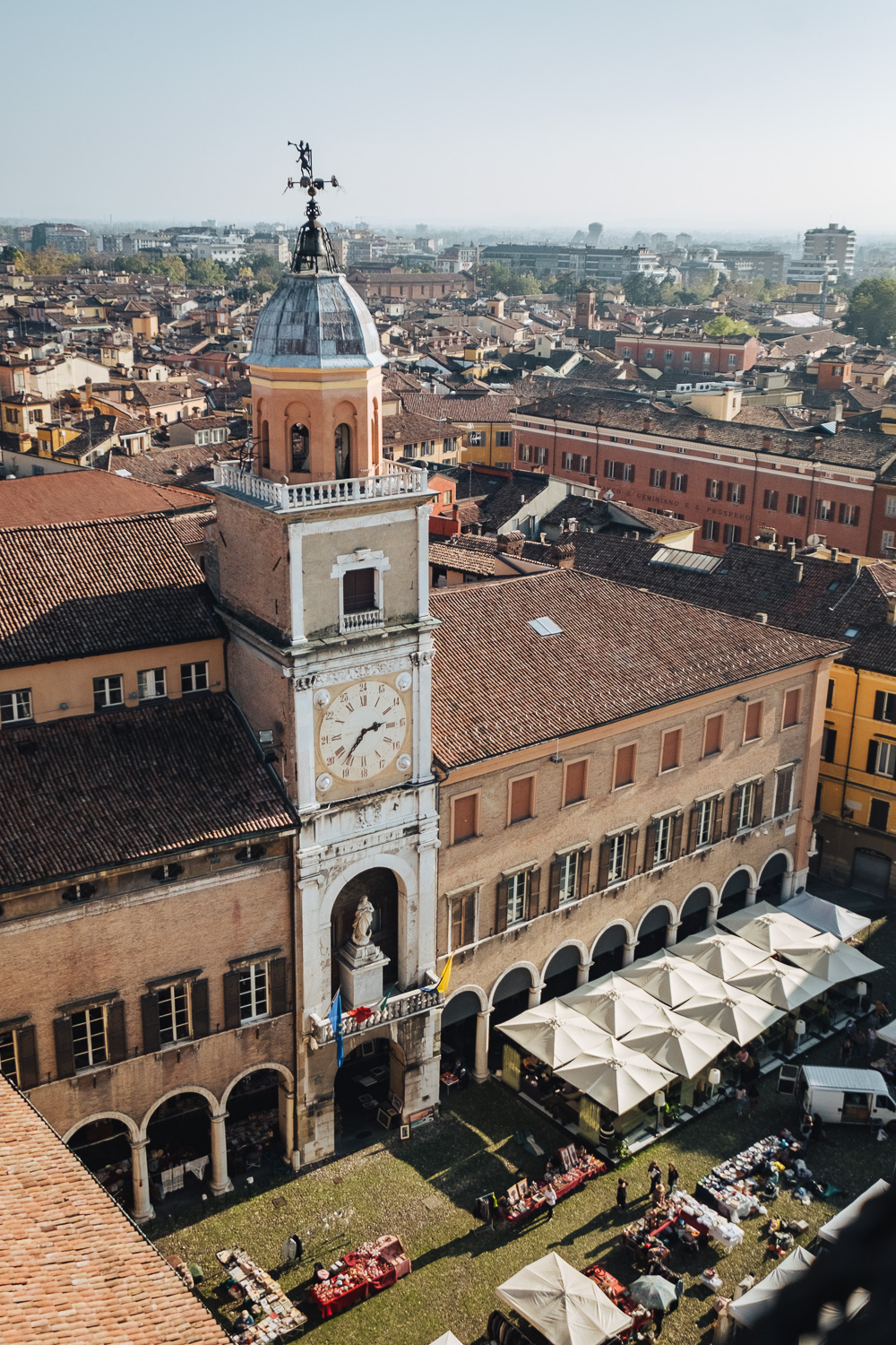 View of Modena old town from the top of Torre Ghirlandina | Six Beautiful Towns you Must Visit in Emilia Romagna | Mondomulia