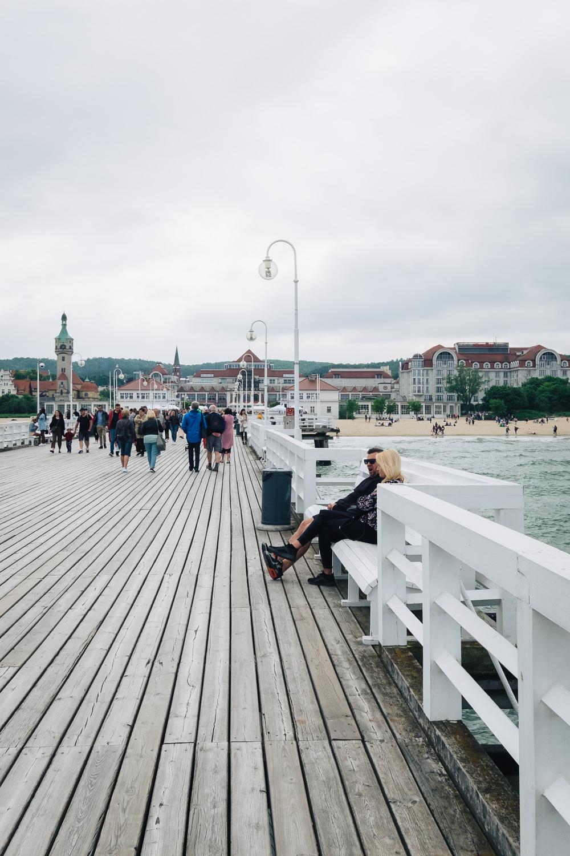 Molo w Sopocie, a pier in Sopot, is the longest wooden pier in Europe