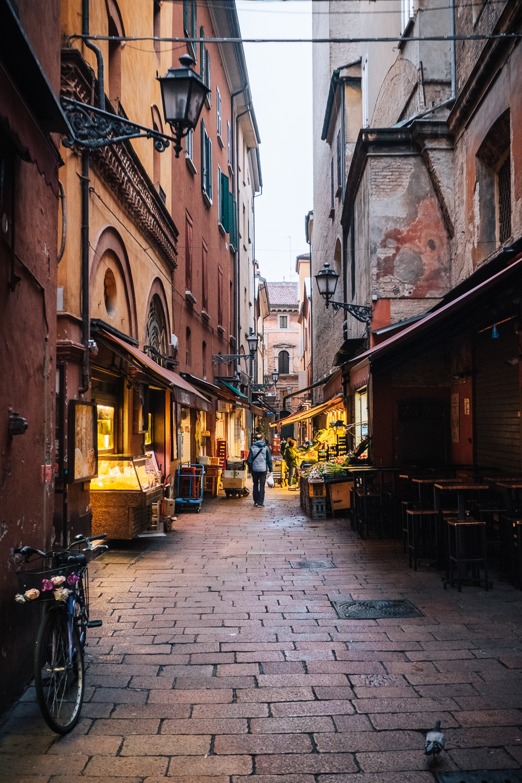 A street in the Quadrilatero neighbourhood in Bologna   Six Beautiful Places you Must Visit in Emilia Romagna   Mondomulia