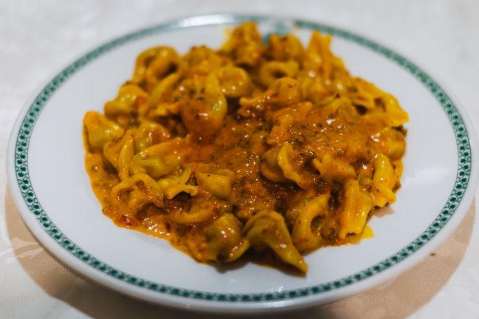 A dish of tortellini pasticciati al sugo di pomodoro in San Marino | Six Beautiful Towns you Must Visit in Emilia Romagna | Mondomulia