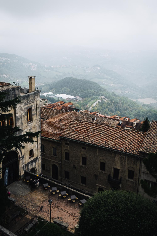 The walls surrounding San Marino enveloped in thick fog   Six Beautiful Towns you Must Visit in Emilia Romagna   Mondomulia