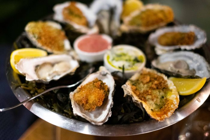 Oysters at The Mariners in Rock restaurant, owned by chef Paul Ainsworth, in North Cornwall