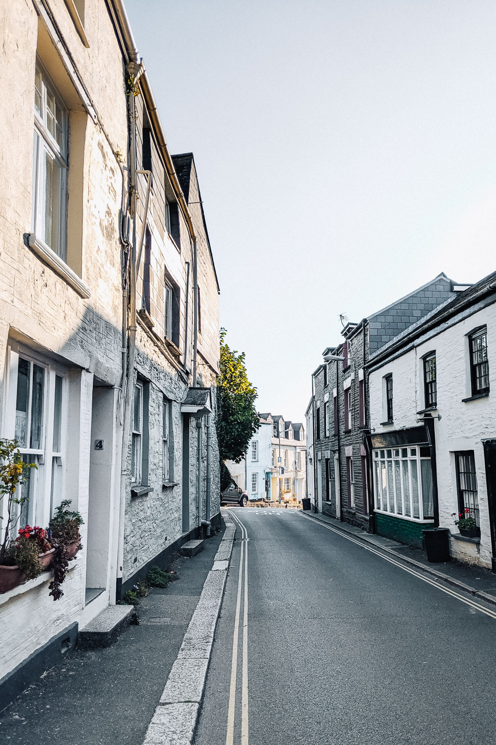 The picturesque town centre of Padstow in North Cornwall, United Kingdom
