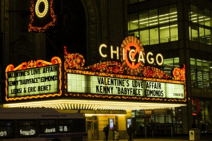 Theatre live show sign, Chicago