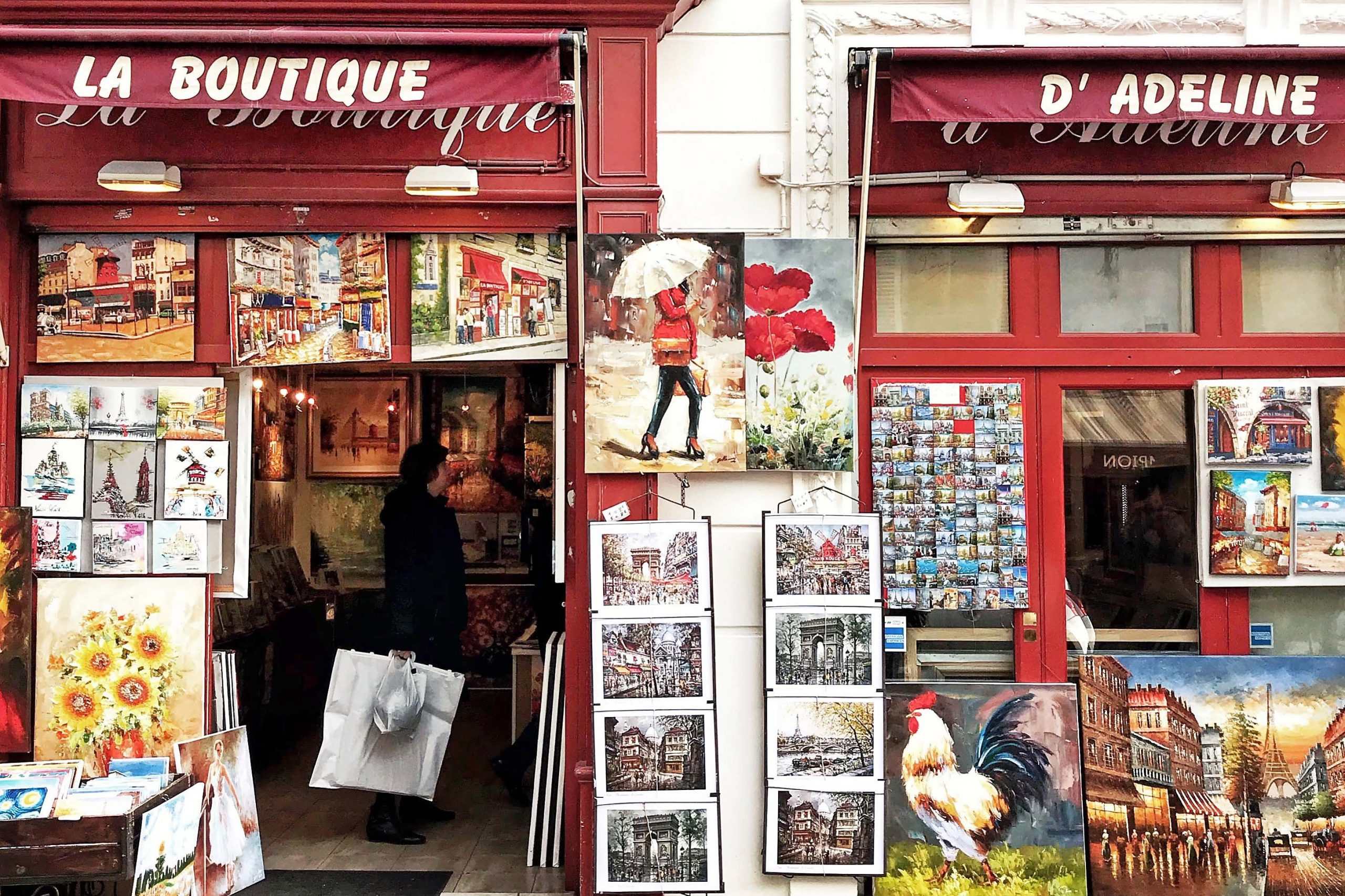 A shop on Rue Montorgueil in Paris, France