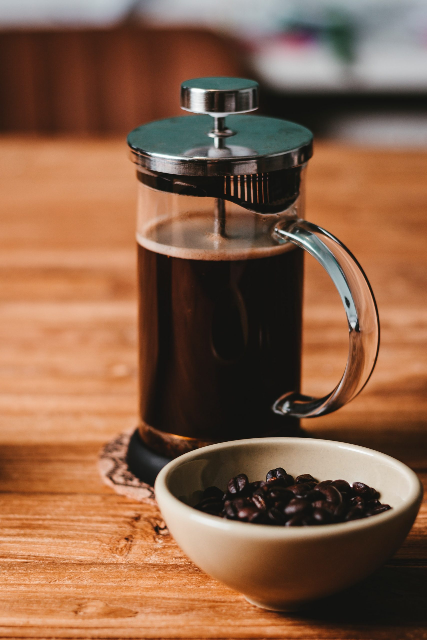 A French Press or cafetière is a popular coffee brewing method