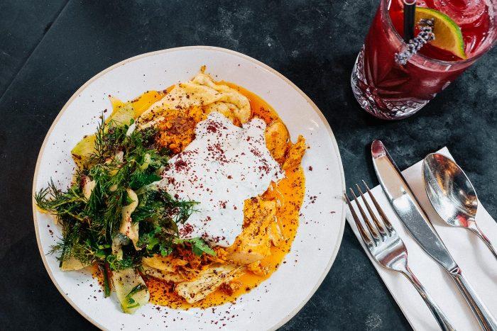 Rippled Eggs & Salt Baked Trout Shawarma | Brunch at Bala Baya in London