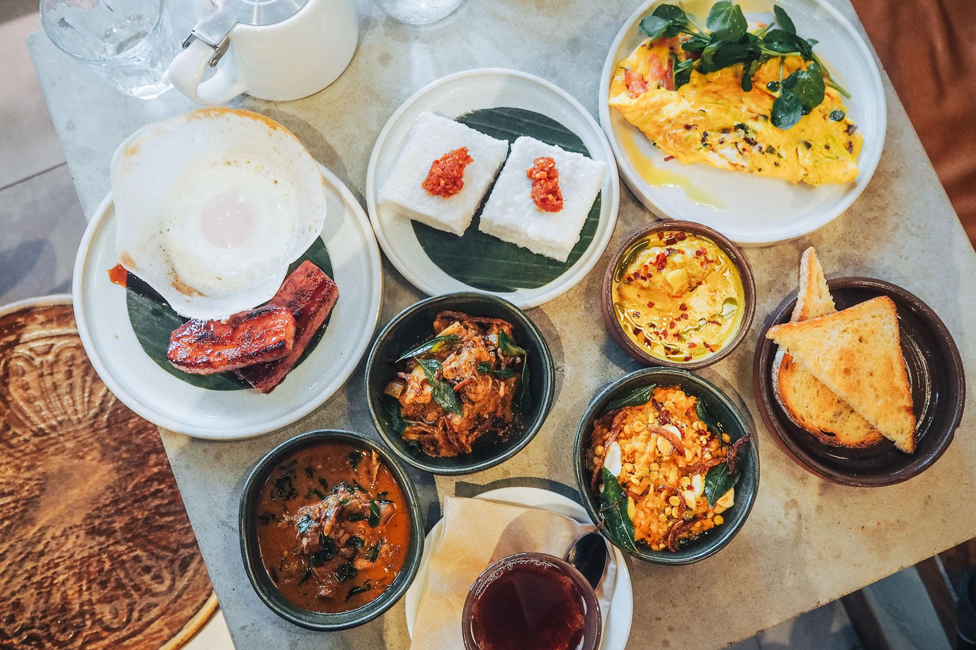 Sri Lankan brunch menu at Kolamba restaurant in Soho, London
