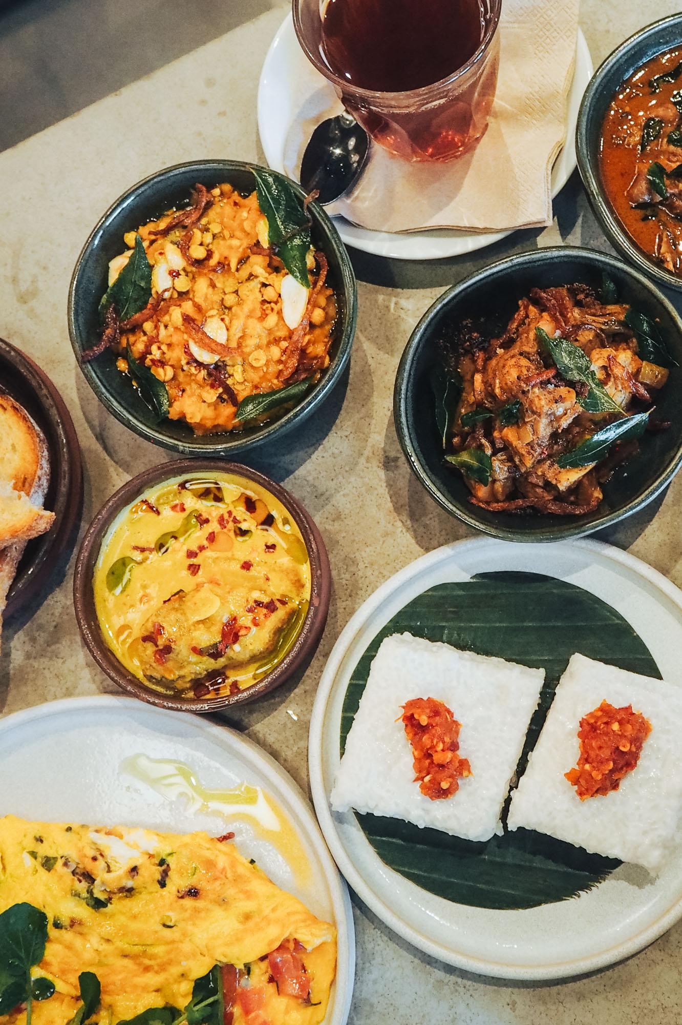 Weekend brunch menu at Kolamba in Soho, London inspired by Sri Lankan food staples and British food classics