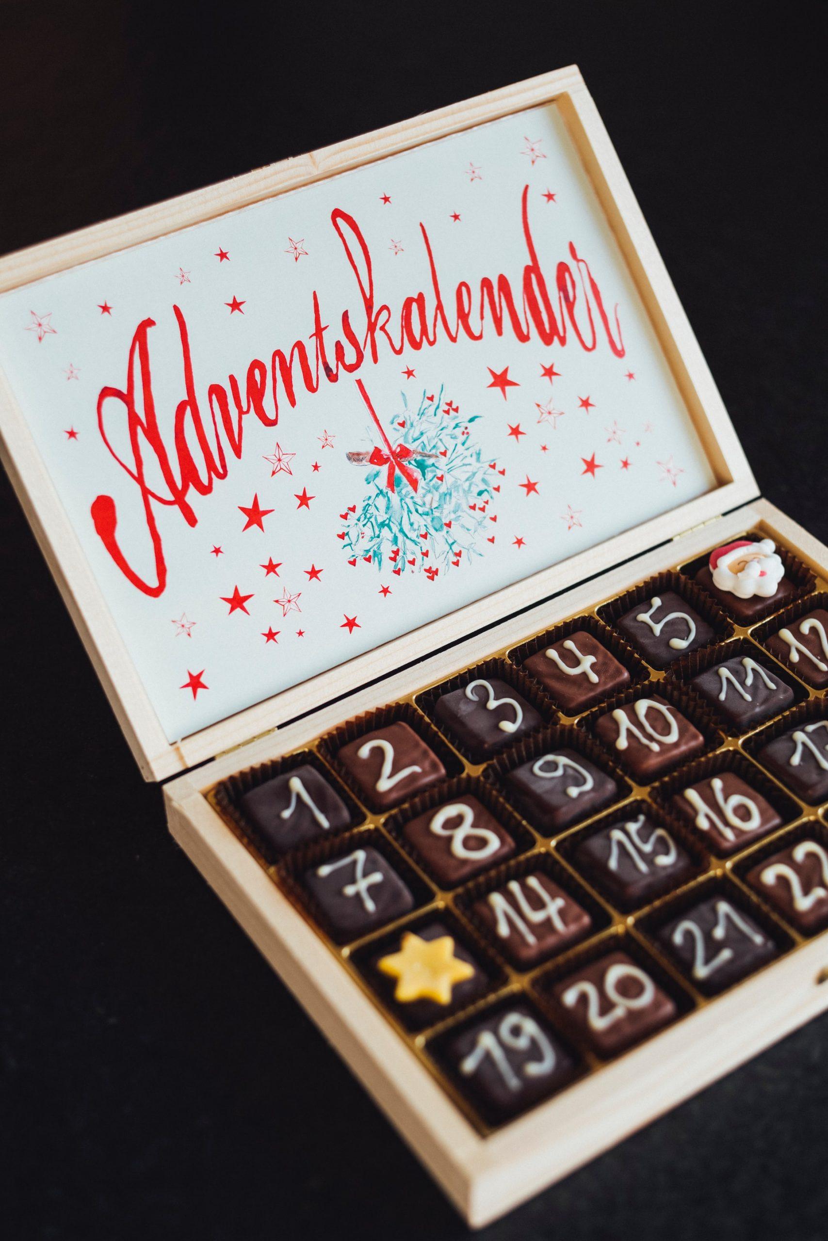 Chocolate advent calendar for Christmas