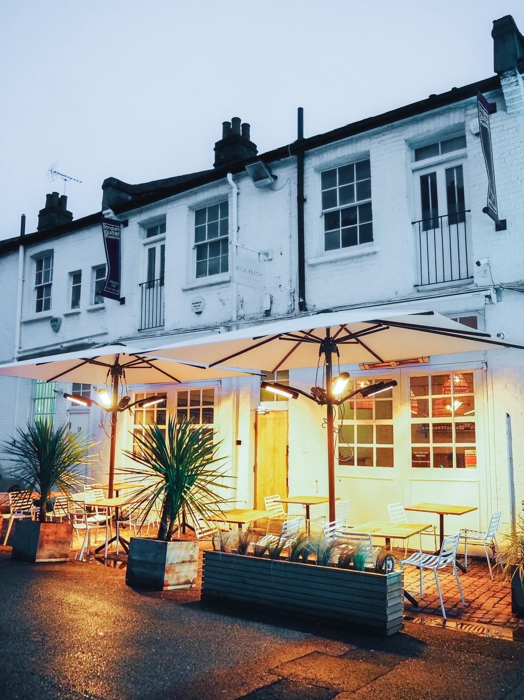 Dinner at Milk Beach, an all day Australian café and restaurant in Queen's Park, London
