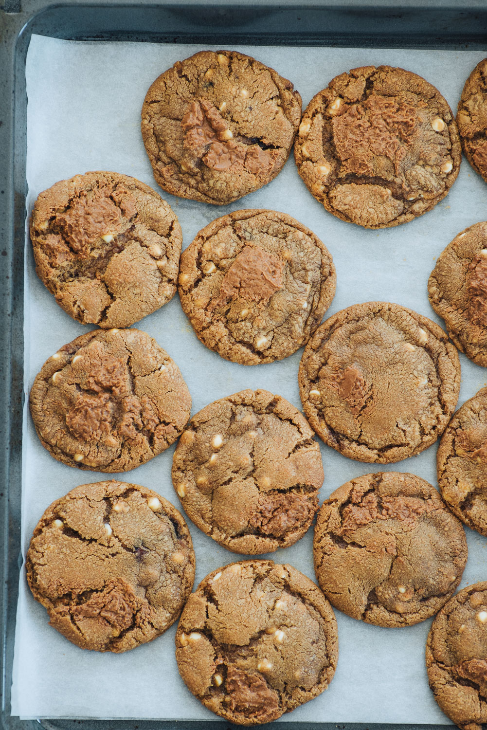 White Chocolate Chip Cookies with Speculoos Cookie Butter