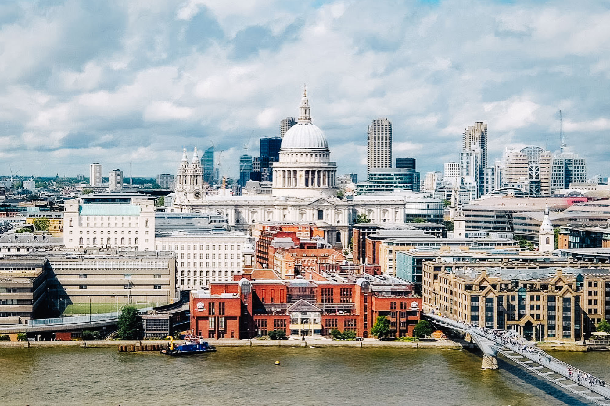 View of St Paul's Cathedral from the Tate Modern in London, United Kingdom