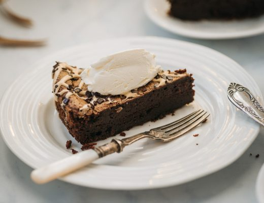 Gluten Free / Flourless / Nut-free Double Baked Dark Chocolate Cake (recipe by Ravneet Gill)