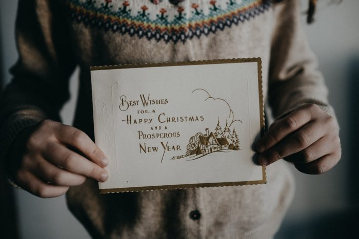 Best wishes Christmas card