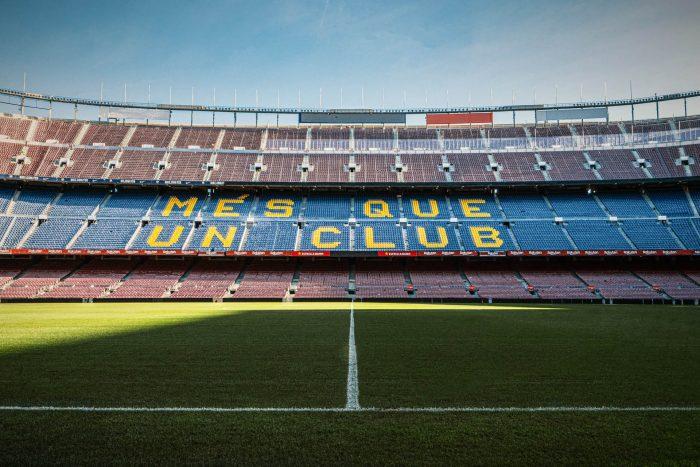 Camp Nou Stadium in Barcelona, Spain
