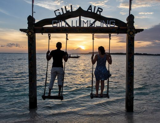 Sunset in Gili Air, Lombok, Indonesia