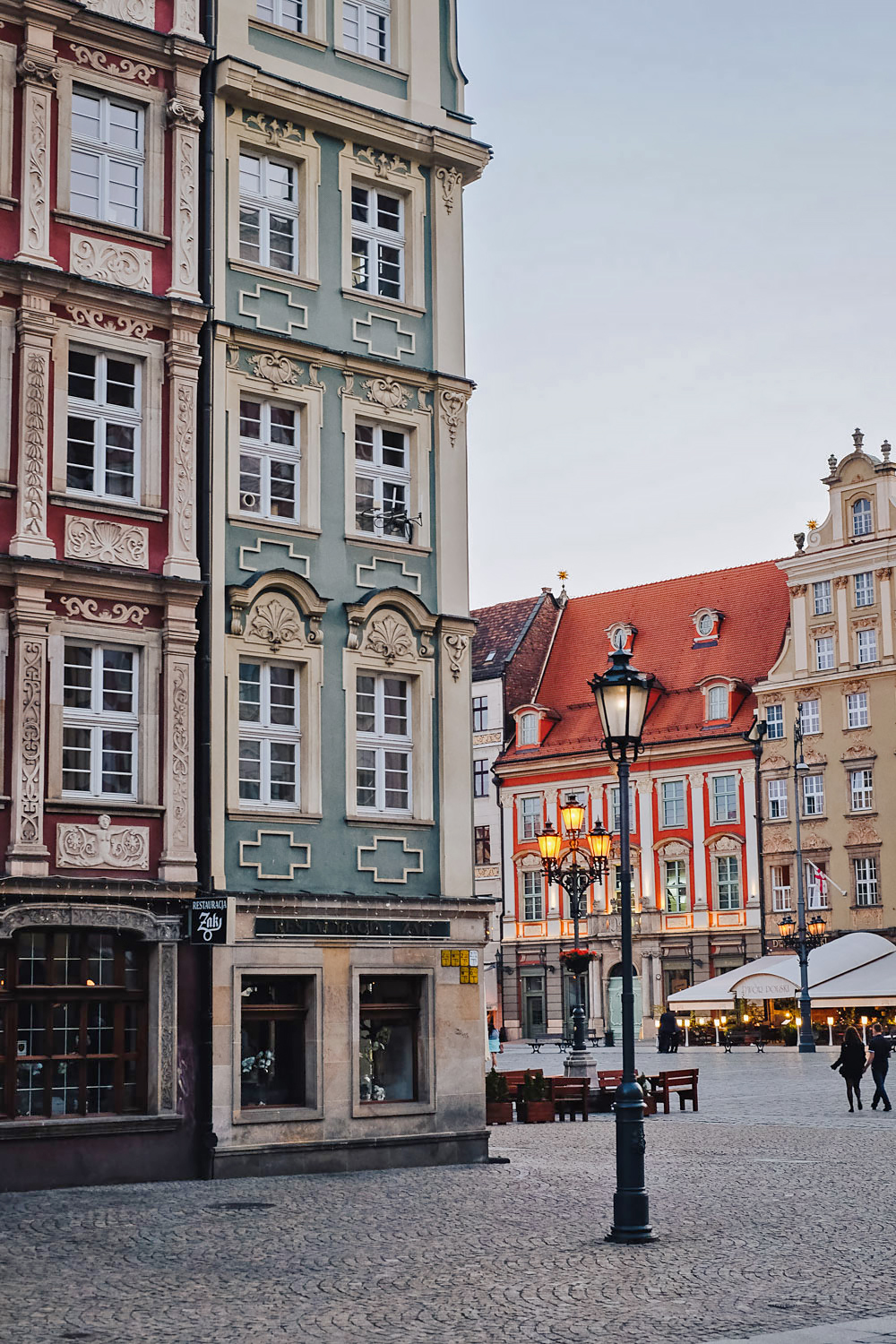 Rynek, the market square in the Old Town of Wroclaw, Poland