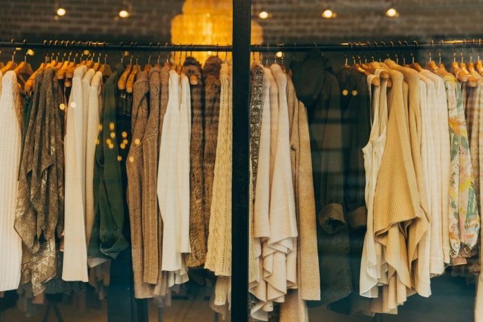 Clothes hanging in a clothing store in Atlanta, US