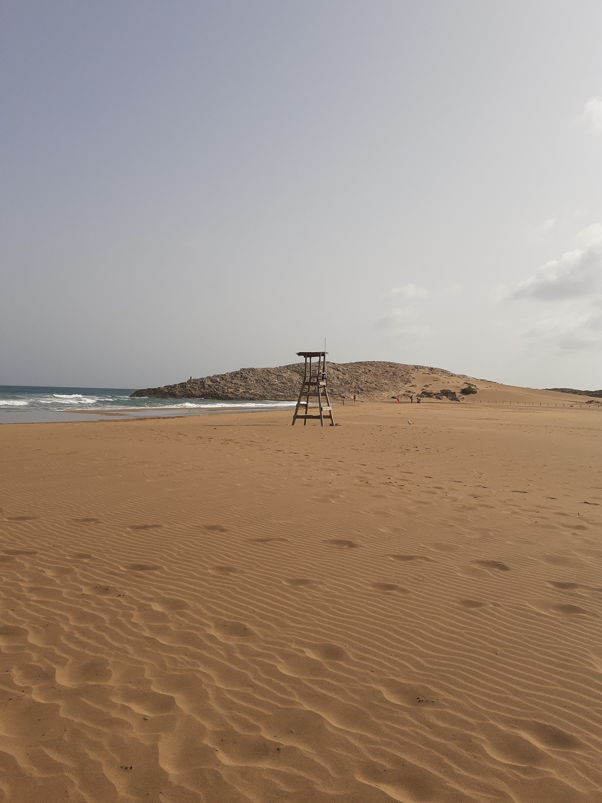 Empty sandy beach in Murcia, Spain