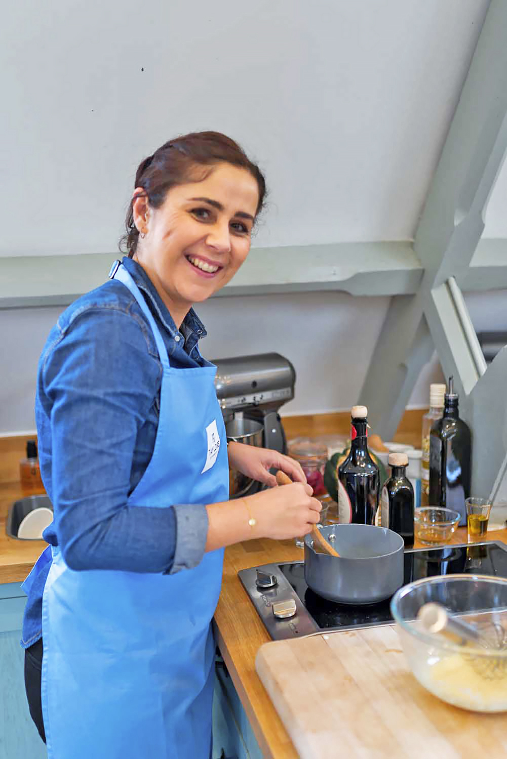Giulia Mulè at a Cooking Workshop at Cactus Kitchen in London