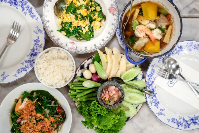 Thai Chinese dishes at taurant Tu Kab Khao in Old Town Phuket, Thailand