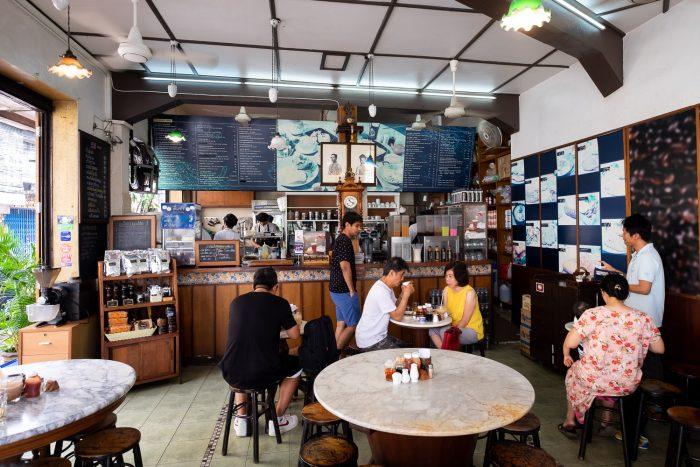 Kope Hya Tai Kee an old-style café in Bangkok, Thailand