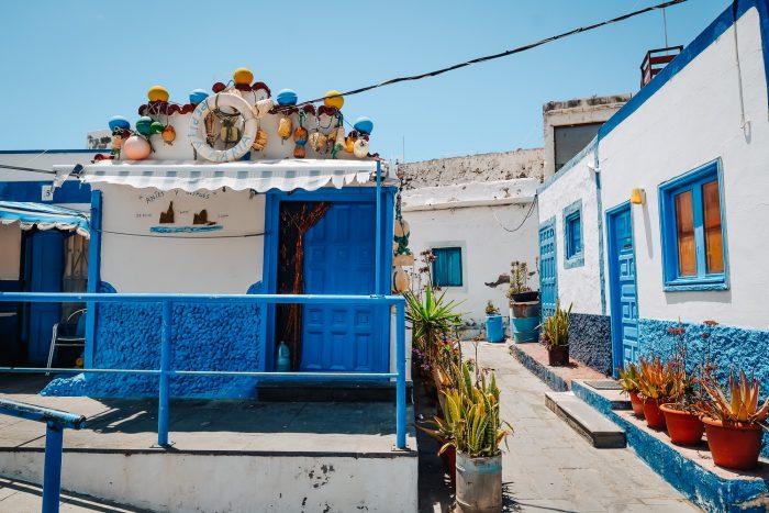 Agaete fishing village in Gran Canaria, Canary Islands