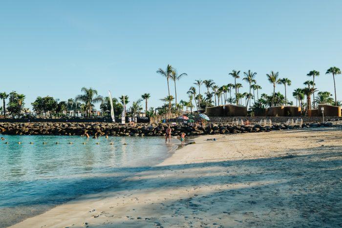 Anfi del Mar beach in Gran Canaria, Canary Islands